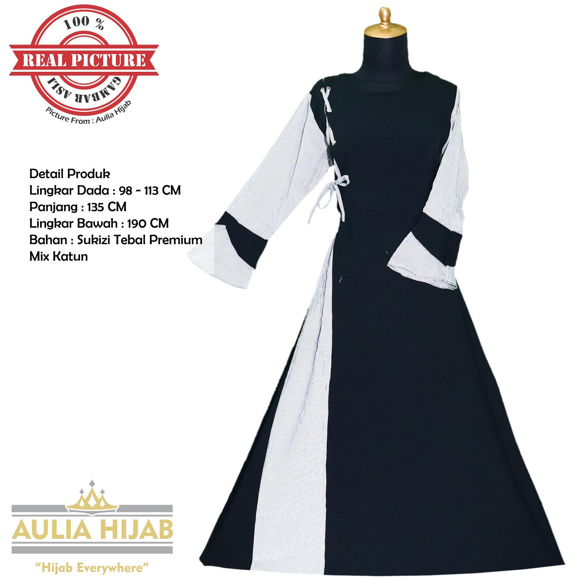 Aulia Hijab - Gamis Annie Dress Bahan Sukizi Premium/Gamis Sukizi/Gamis Premium/Gamis Santai/Gamis Kerja/Gamis Terbaru/Gamis Real Picture/Gamis Bahan Sukizi/Gamis Lebaran/Gamis Kondangan/Gamis Cantik