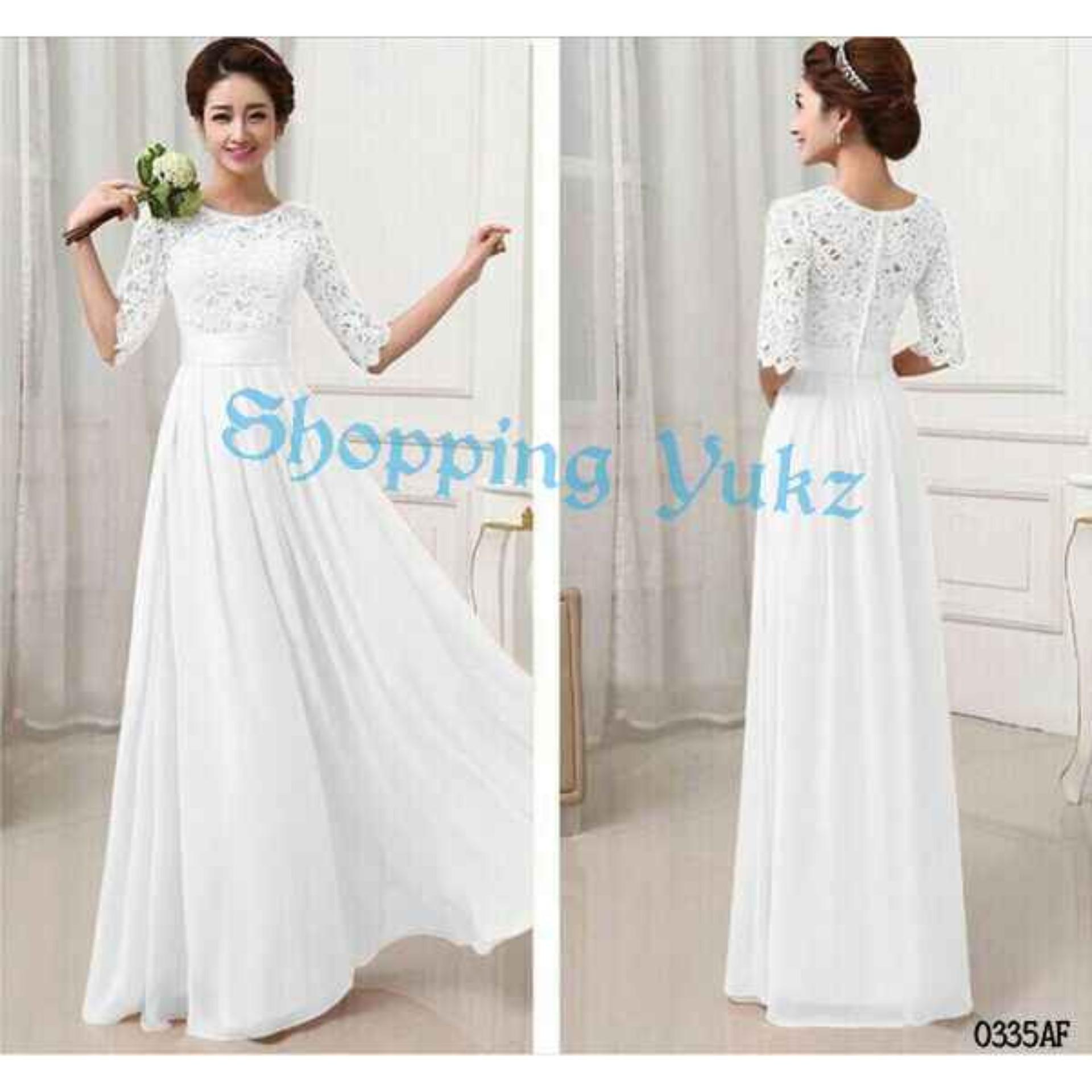 Daftar Harga Maxi Dress White Di Lazada Hargaupdate Brukat