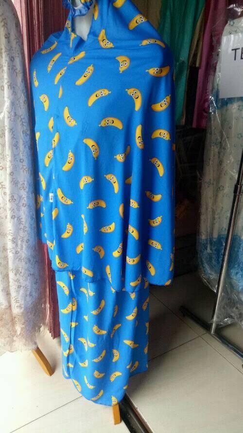 mukena bali adem motif pisang