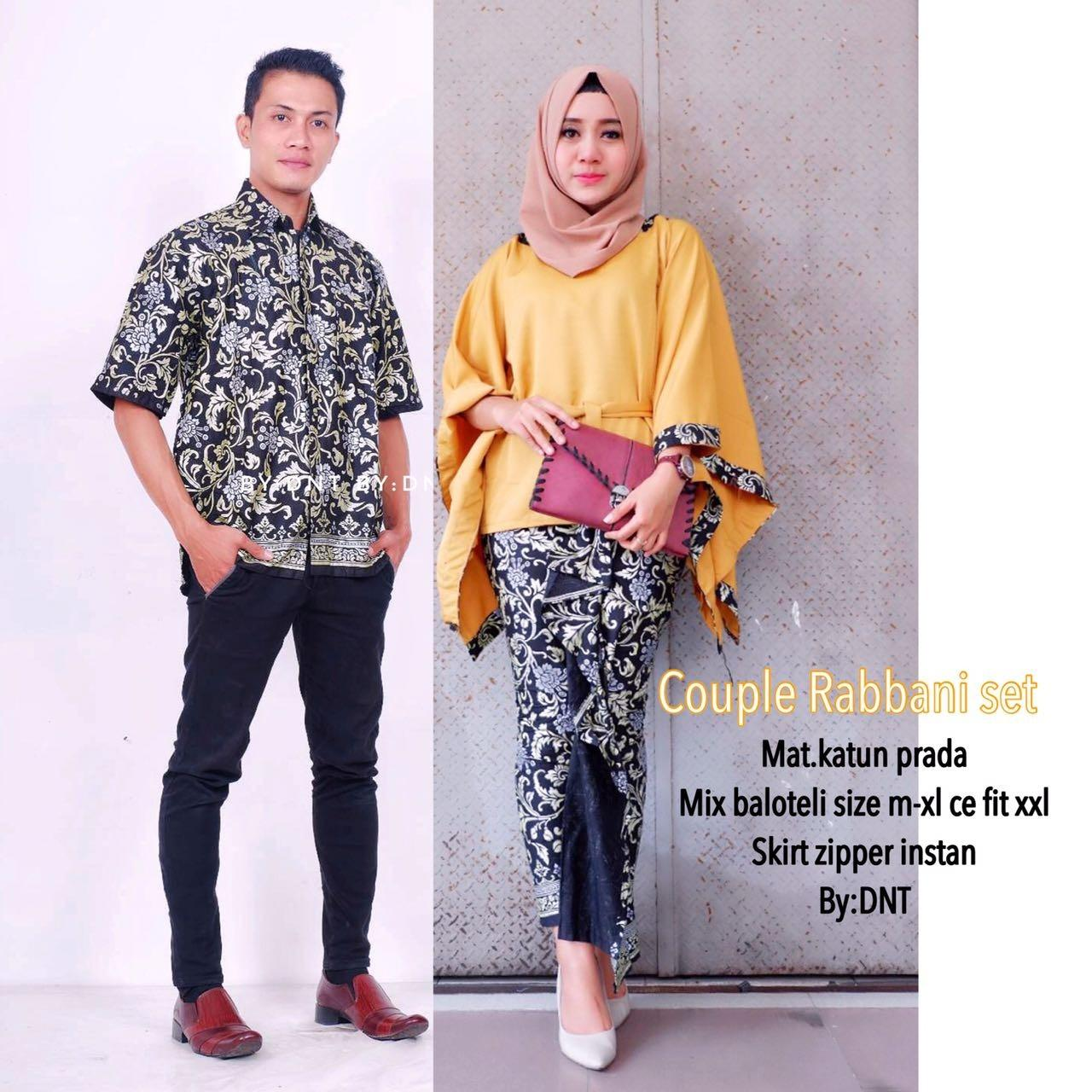 Batik Couple / Batik Sarimbit / Baju Kondangan Rabbani Set Couple