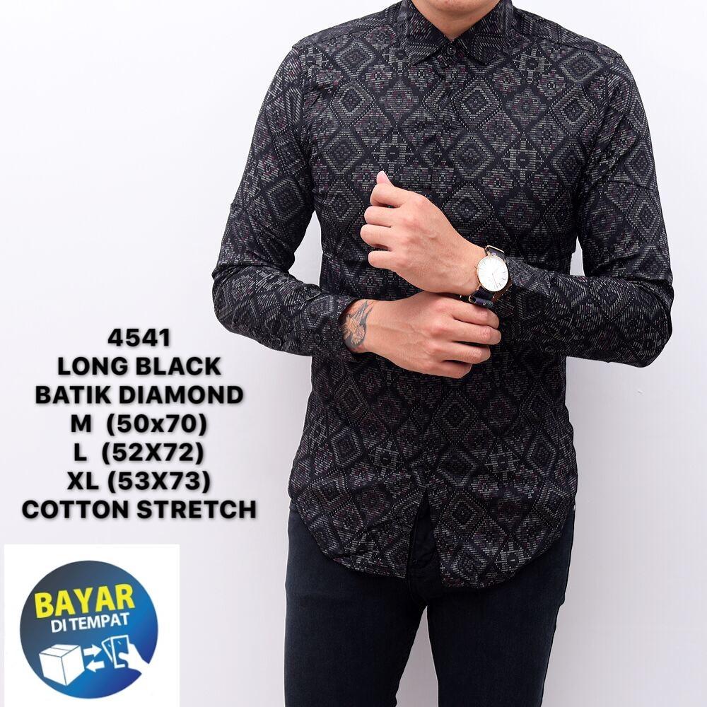 kemeja batik songket pria atasan formal/batik songket pria slimfit/baju cowok distro premium