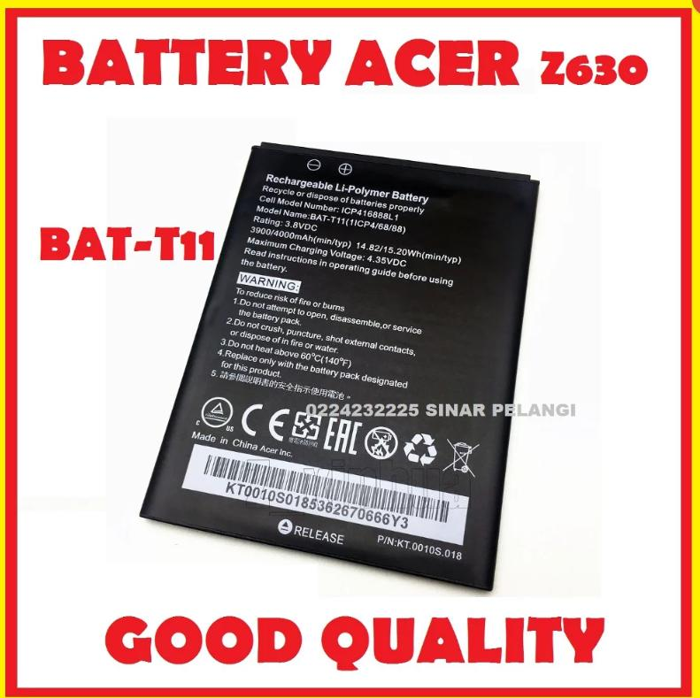 BATTERY BATERAI BATU BATRE ACER LIQUID Z630 5.5 INCH BAT-T11 GOOD QUALITY PRODUCTS GARANSI GANTI BARU 907026
