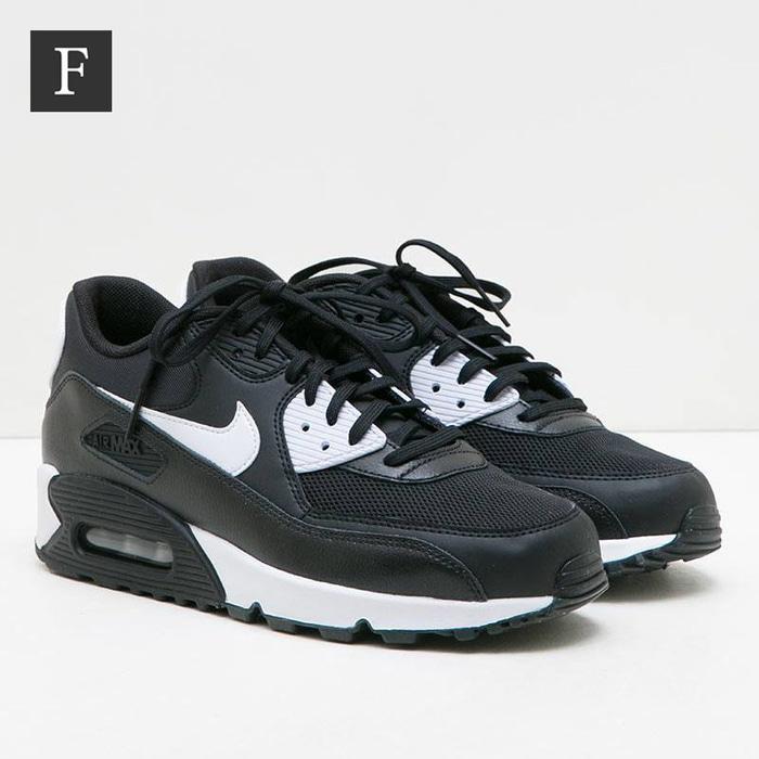 Sepatu Nike Air Max 90 Essential Black White Wanita Original