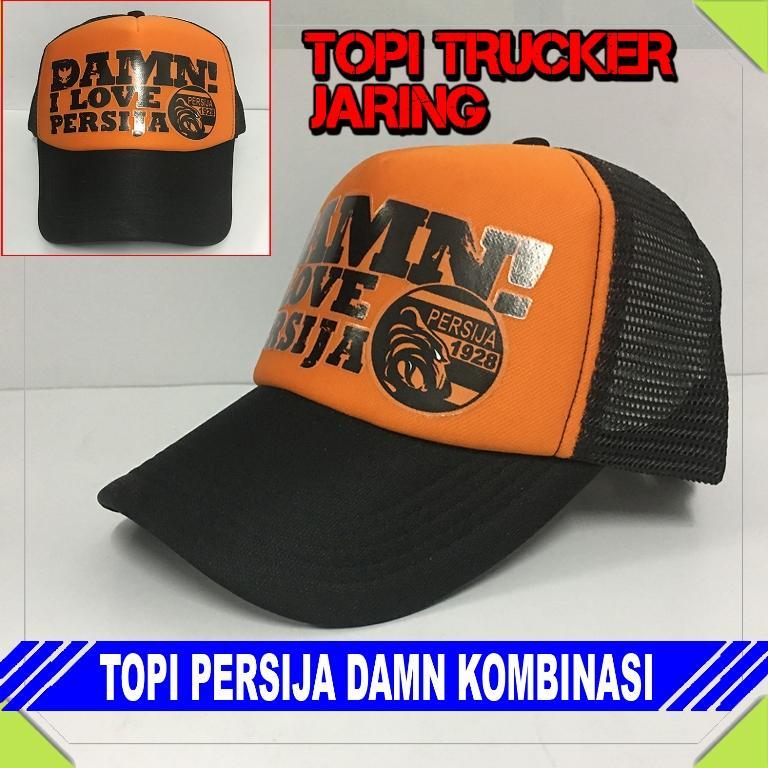 Topi Trucker Jaring Pria dan Wanita PERSIJA
