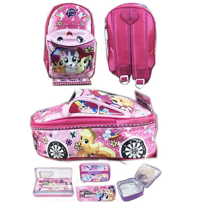 ... Onlan Travel Bag Karakter Hello Kitty Bahan Kanvas Halus Merah Source Tas Ransel