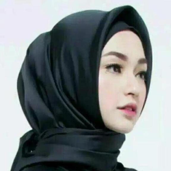 ADB - jilbab segi 4 satin - fashion muslim
