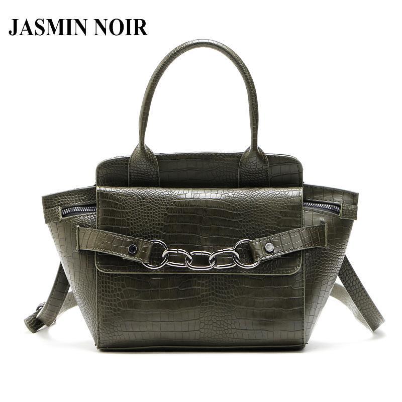 54ac4dc5cf New Crocodile Brand Designer Pu Leather Women Top-handle Bags Female Purse  Chain Wings Bat