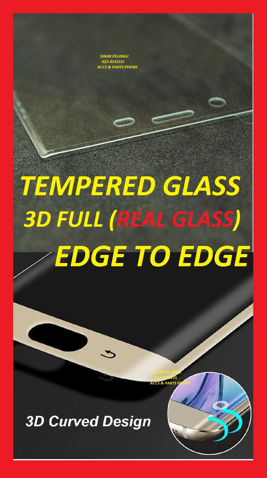 SAMSUNG S6 G920 WHITE 3D FULL COVER CURVED CURVE 2.5D ROUND EDGE TO EDGE LENGKUNG CEKUNG ANTI GORES TEMPERED TEMPER GLASS KACA HIFI 906064