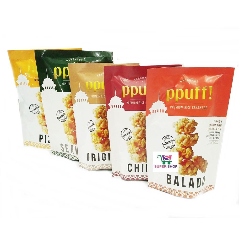 Ppuff! Snack Rengginang Modern Rice Crackers
