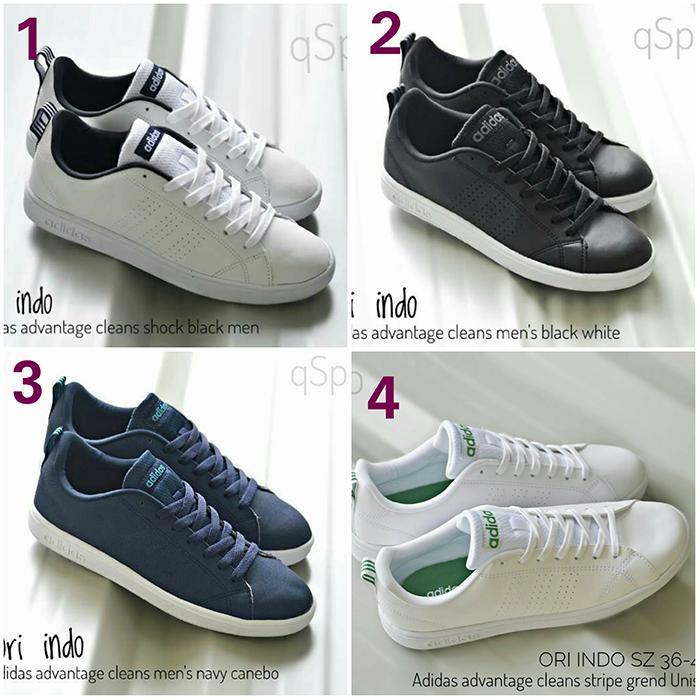 Promo sepatu casual adidas advantetage cleans mens import original vietnam Diskon
