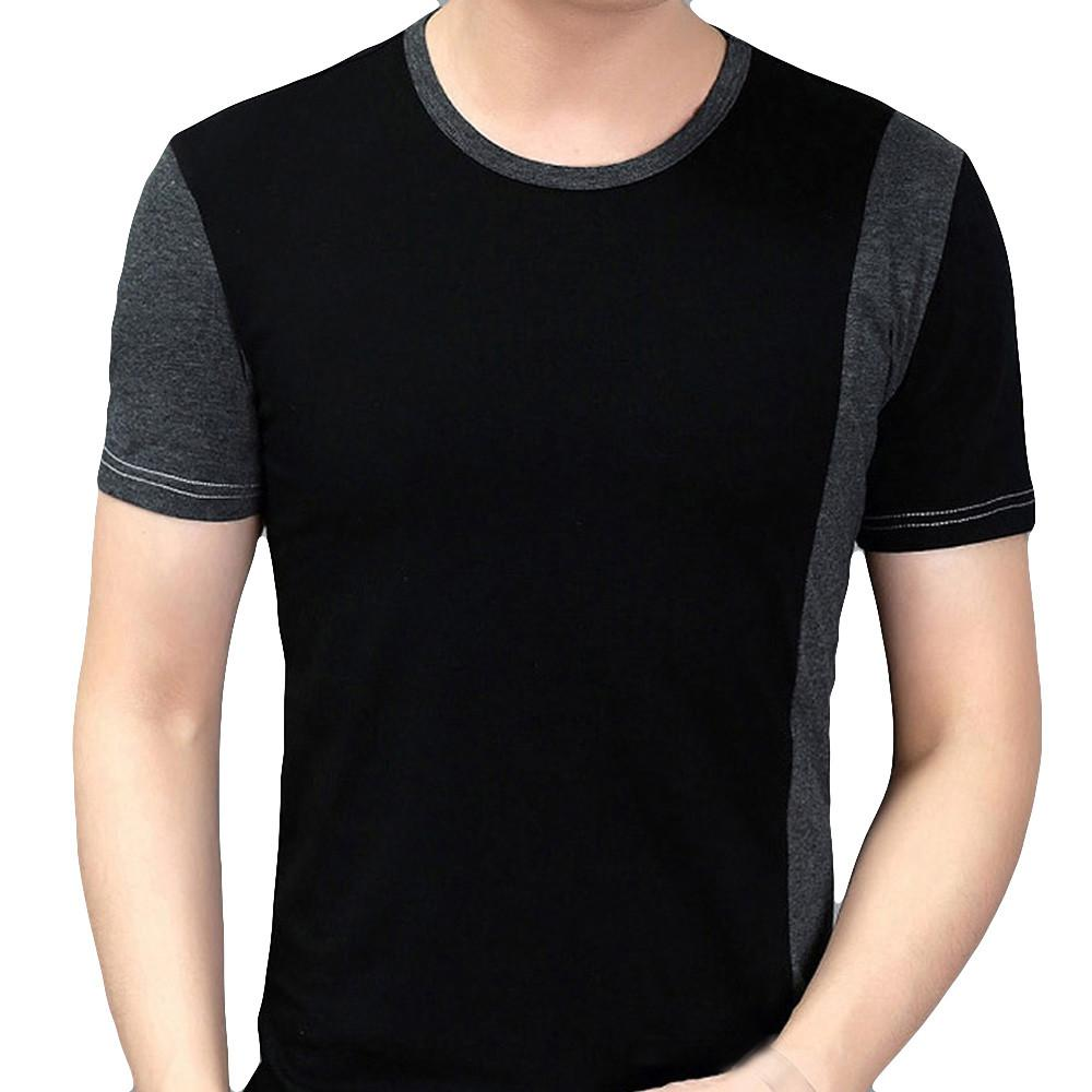 5f50b3aac63e Personality Splicing Mens Tops Leisure Self Cultivation Short Sleeves T  Shirts MML