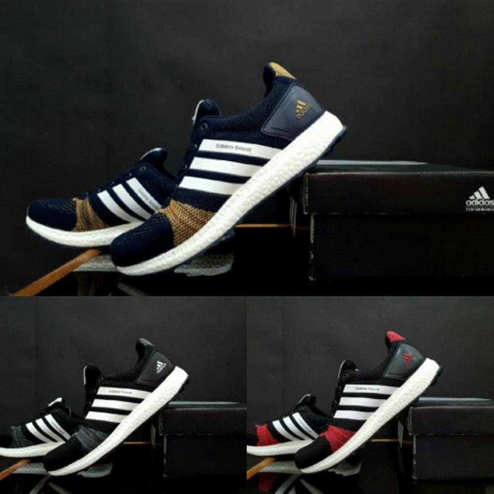 Promo sepatu olahraga pria  boost flyknit import gym joging zumba running / competitor .puma. mizuno  Diskon