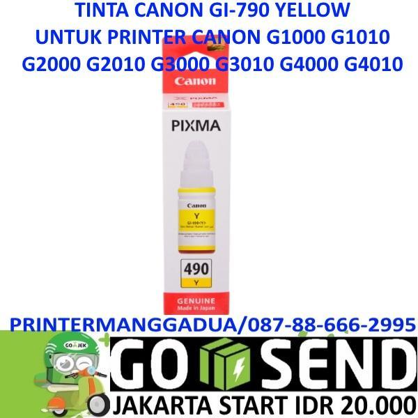 TINTA GI790 CANON G1000 G2000 G3000 G4000 G1010 G2010 G3010 G4010 - Hitam, merah, biru, kuning
