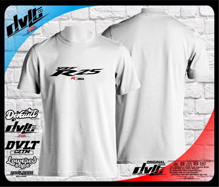 Kaos / T-Shirt Motor Yamaha YZF R25 R DNA Logo Murah