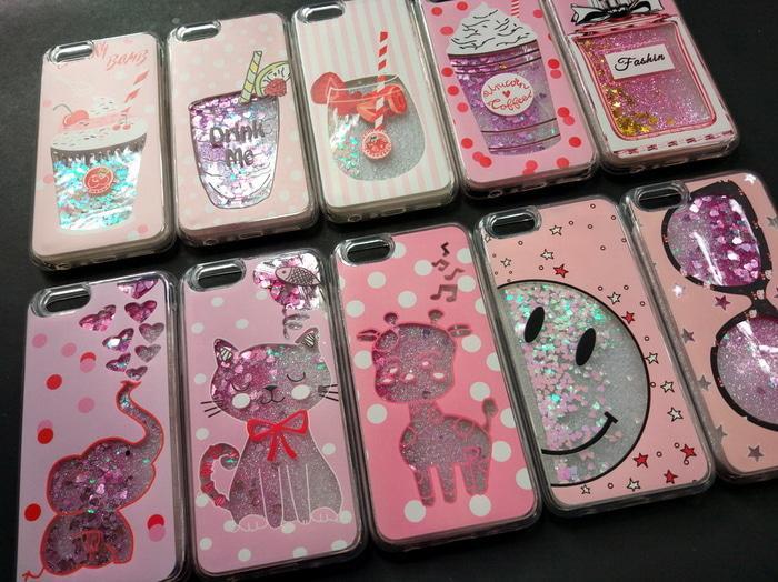 Case Samsung J1 ACE J110 Pink Art Dynamic Water Glitter Liquid Quicksand Cover Case Back Cover Soft Case Flip Case Glitter Casing Hp Terbaru Trendy
