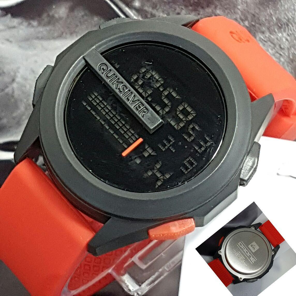 Quiksilver Stainless Steel Jam Tangan Pria Ds Daftar Harga Terbaru Expedition 6631 Black Yellow Triple Time Original Quicksilver Murah Best Seller Sporty Digital