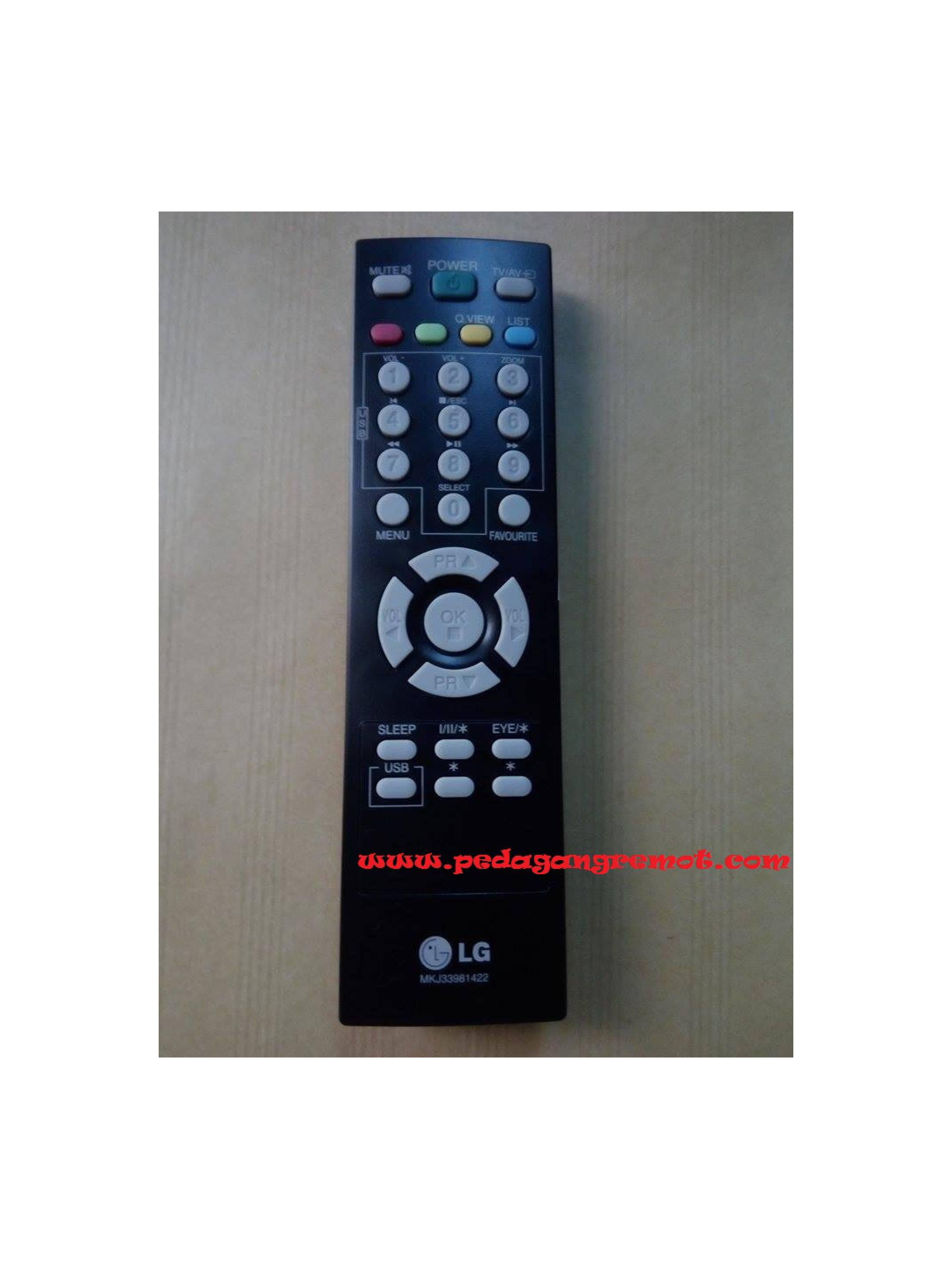 Remot/Remote TV LG Flat/LCD/LED Ori/Original MKJ33981422