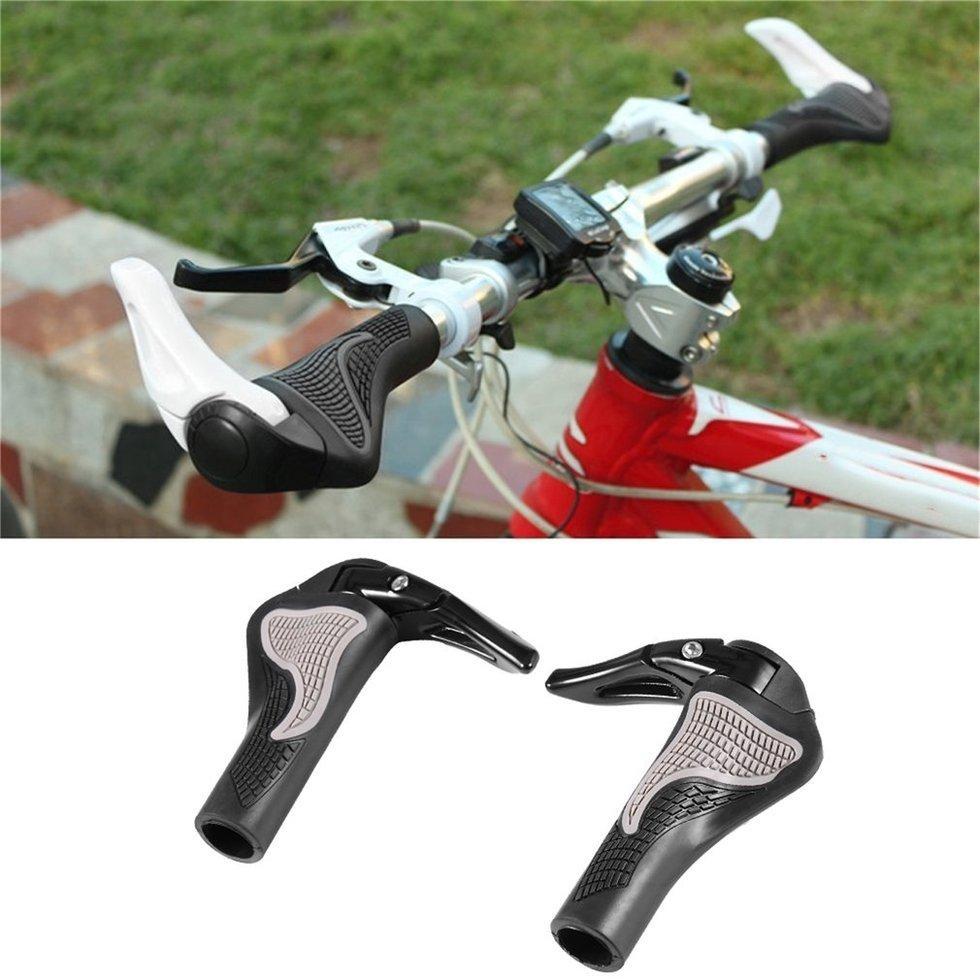 Jual Beli Bersepeda Sepeda Gunung Penutup Stang Pegangan Grip Mtb Hitam 1 X Sepasang Campuran Aluminium Tidak Termasuk Karet