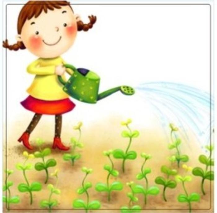 Stiker Tombol Lampu / Saklar Lampu Motif Gadis Kecil Menyiram Tanaman