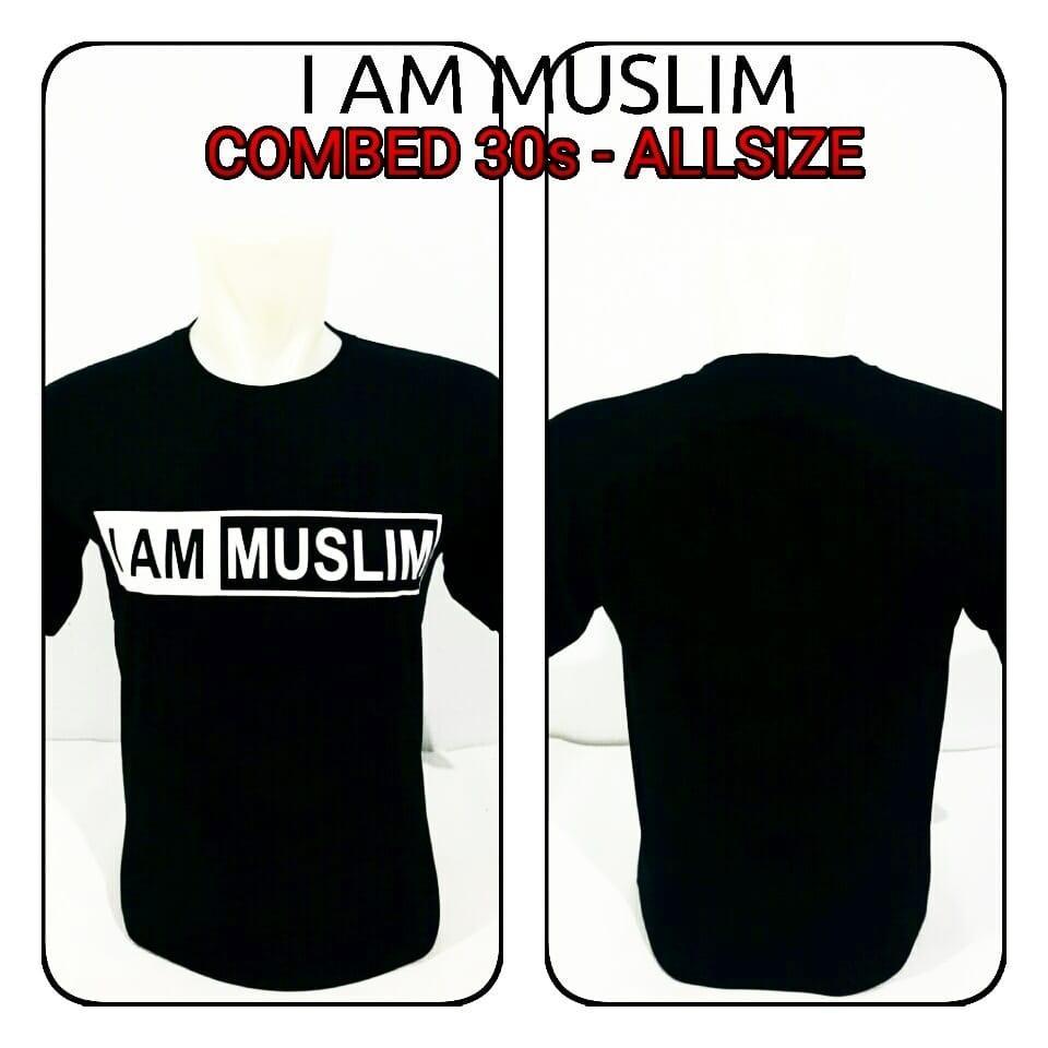 Kaos Distro AZR Dakwah Pria Man i'am Muslim Navi