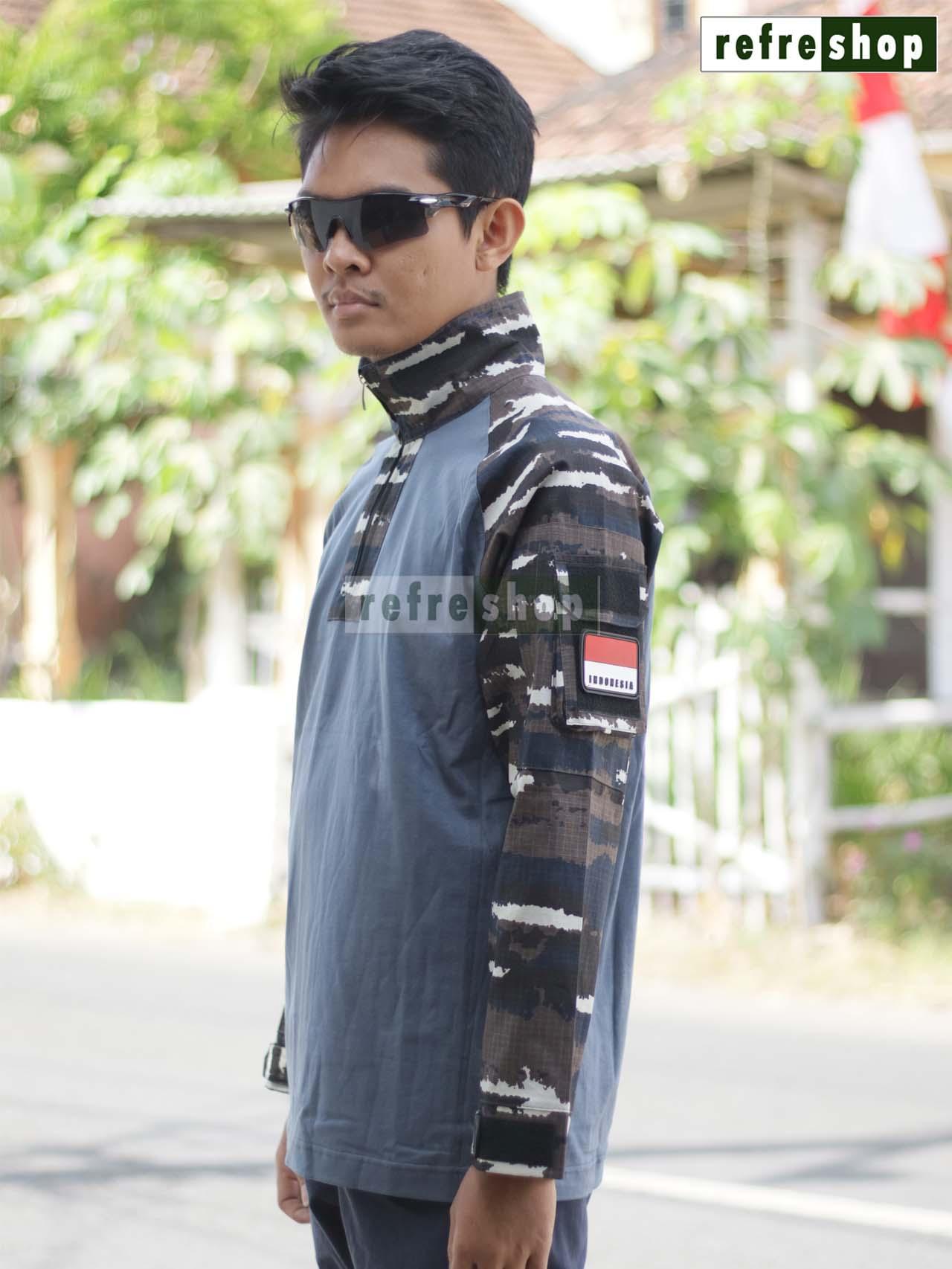 ... Kaos Tactical Militer Nyaman Berkualitas Cotton Ripstop Tebal Army KTCCRSDD - 4