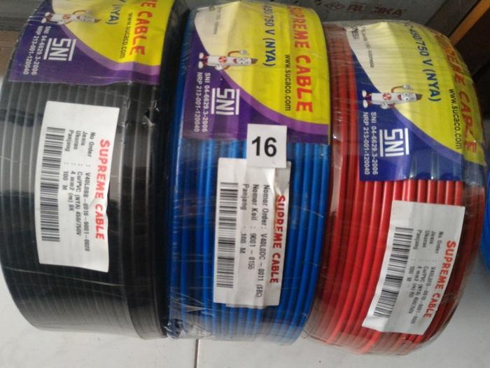 Kabel NYA 1 X 4 Tunggal Merek Supreme Jual Per 1 Meter