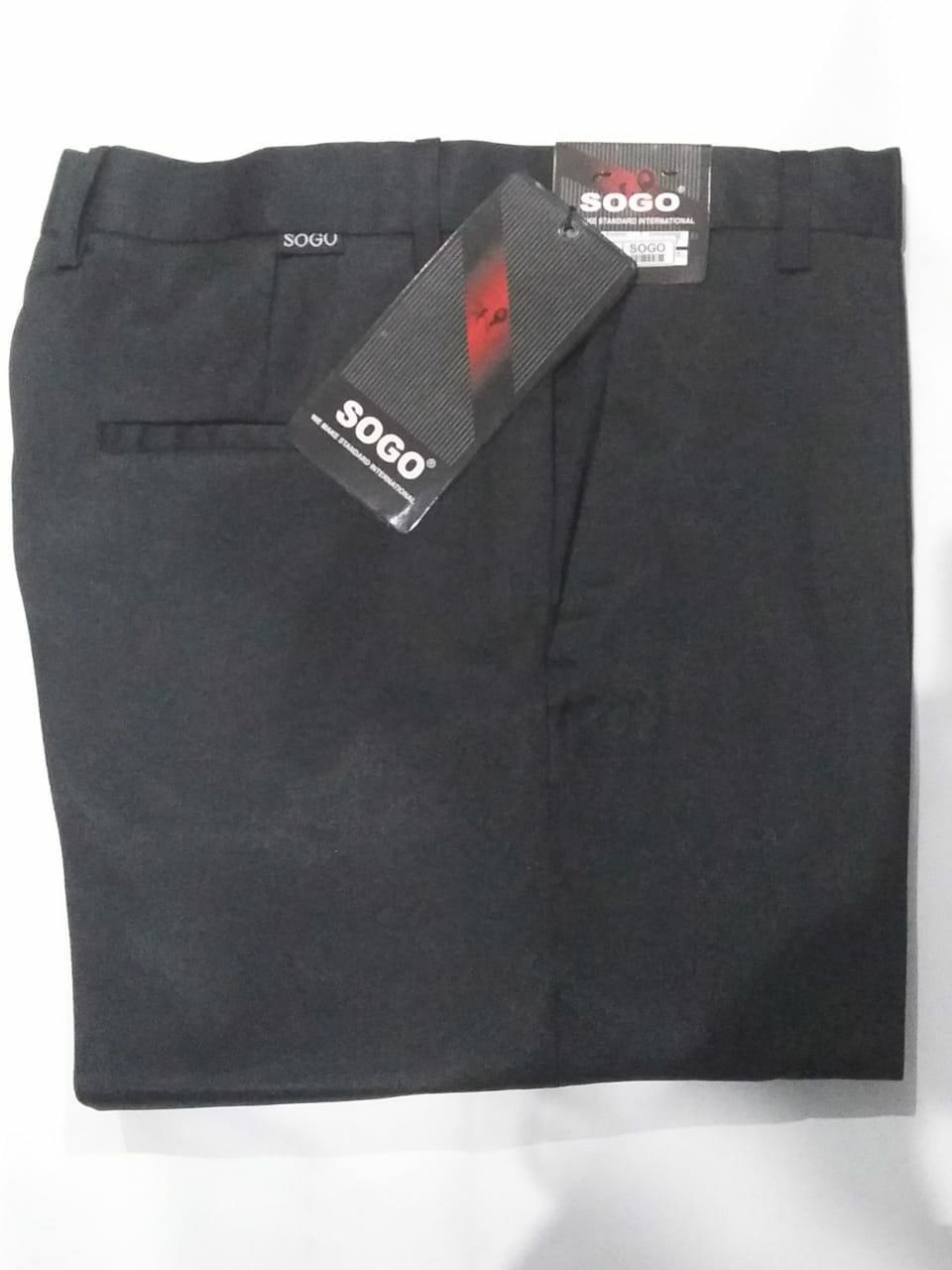 Prosperoz - Celana Pria Panjang - Celana Kerja Kantor Formal -  Bahan Kain - Bahan Woly Polyester - Hitam - Sogo Slim