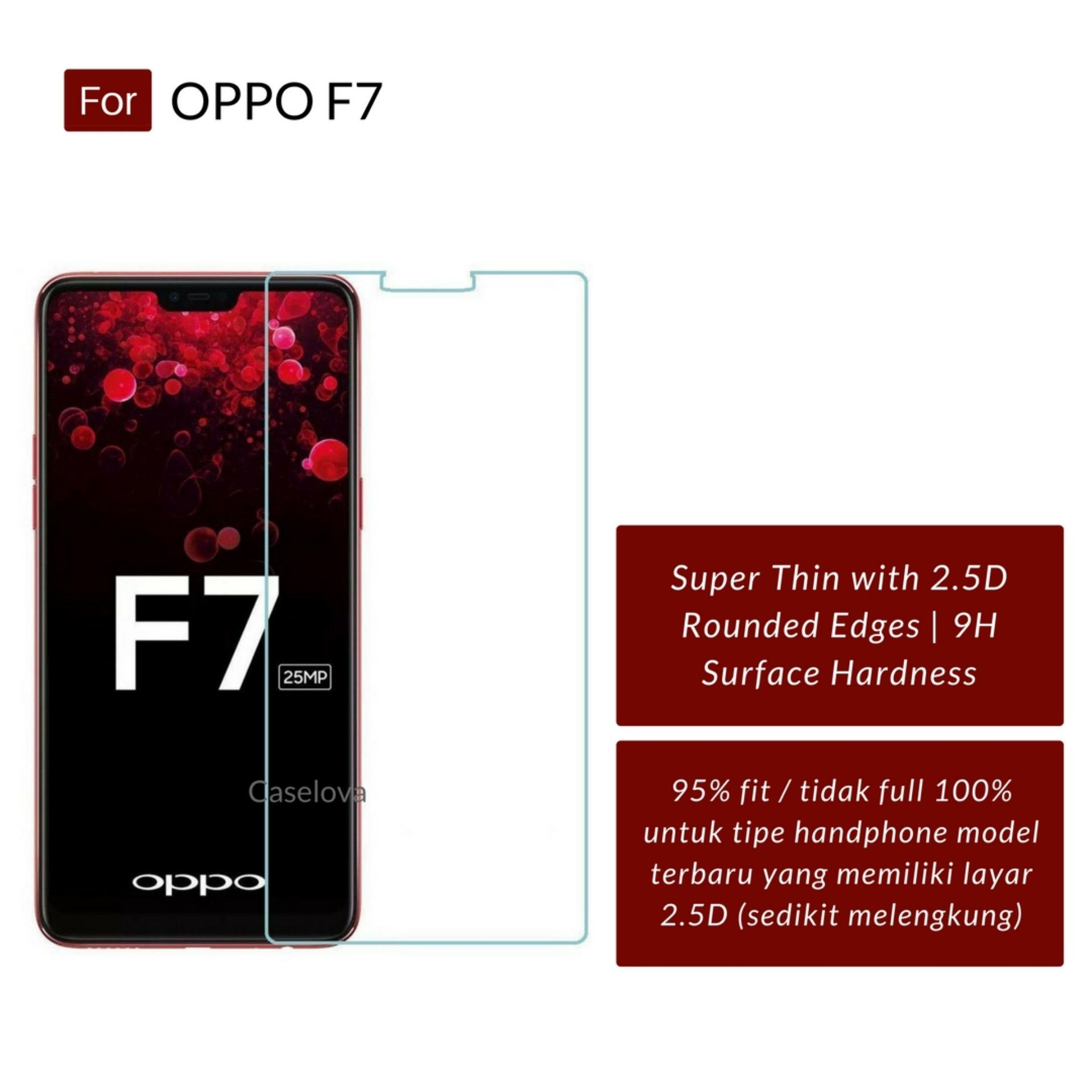 Gambar Produk Rinci Tempered Glass Screen Protector Anti Gores Kaca Oppo F7 - Clear Terkini