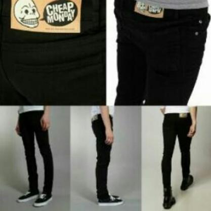 harga Celana Cheap Monday Hitam Pekat/Soft Jeans/Slim Fit/Pensil/Skinny Jeans Lazada.co.id