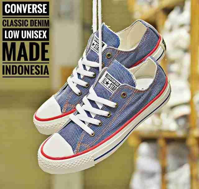 Promo Sepatu Pria / Wanita Converse Allstar Classic Low Made In Vietnam #4 Diskon