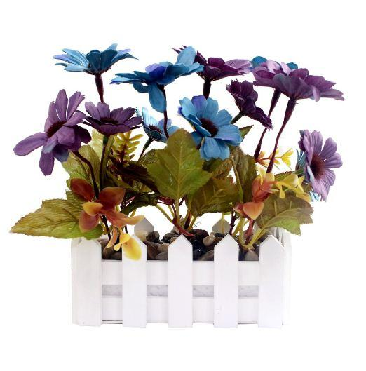 JYSK Artificial Plant 17D082 16X8X8CM Blue Purple