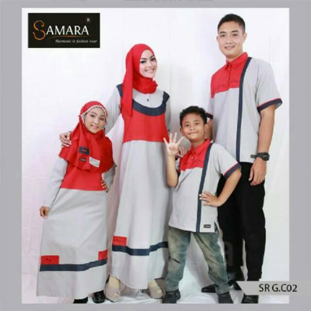 SR.C02 | Sarimbit muslim couple keluarga seragam terbaru koko gamis ayah ibu baju anak murah branded Koko Anak No 8 & 10