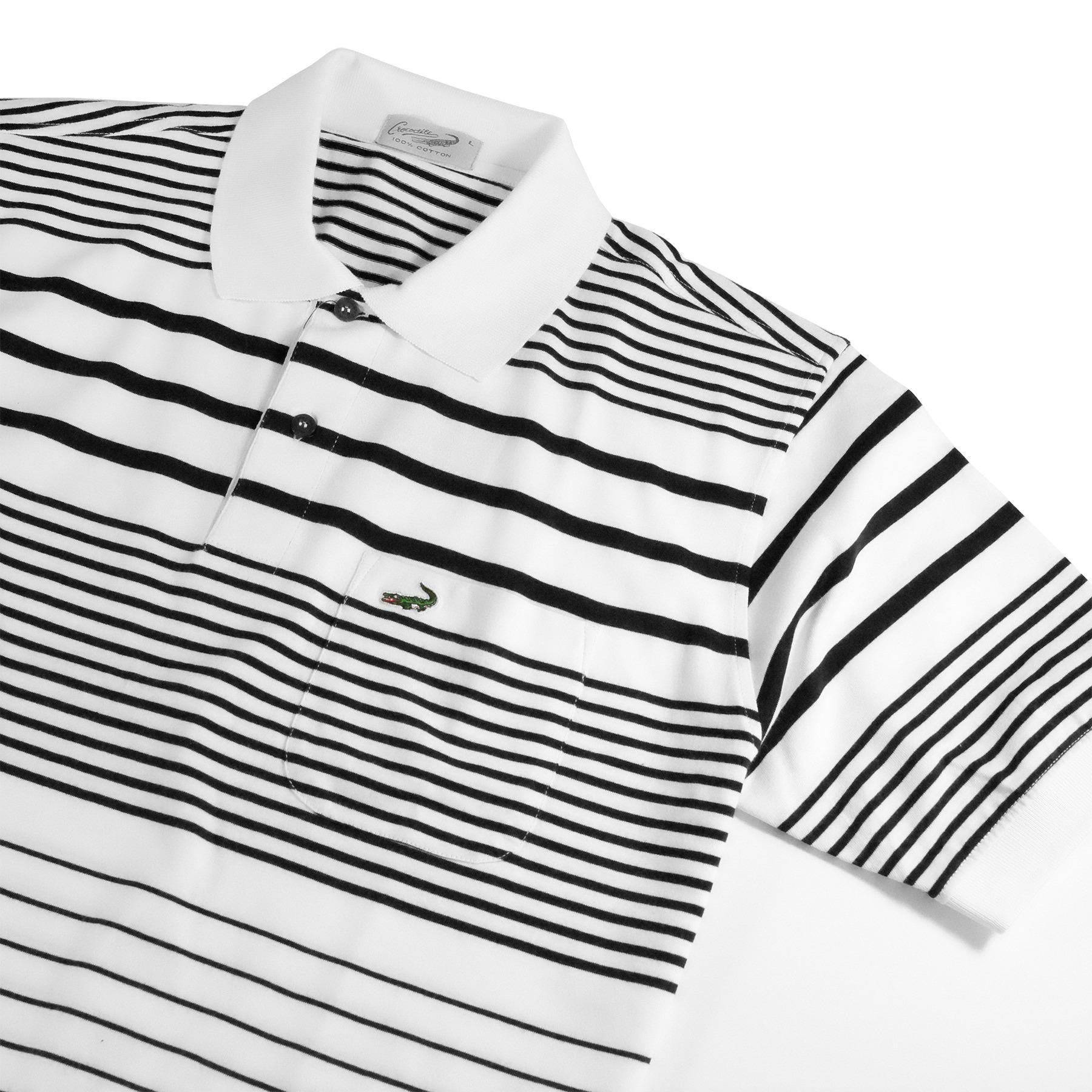 Baju Pria Crocodile Men Premium Polo Shirt Bahan Katun 100 Cotton Clas Ori Slim Fit Dark Navy S Pepe White