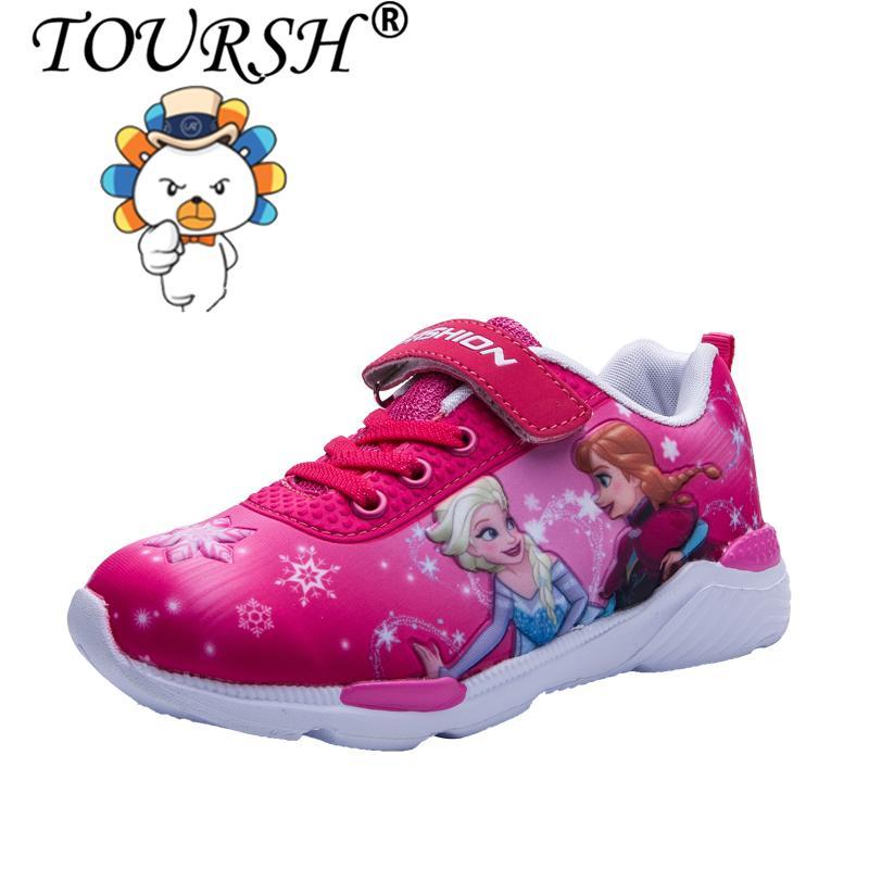 TOURSH Boys Cool Kartun Anak Olahraga Sepatu Gambar Berwarna Sepatu
