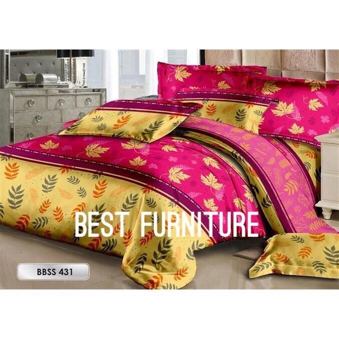 Best Furniture Bedcover Set Cantik dengan Selimut dan Seprai uk King 180x200cm