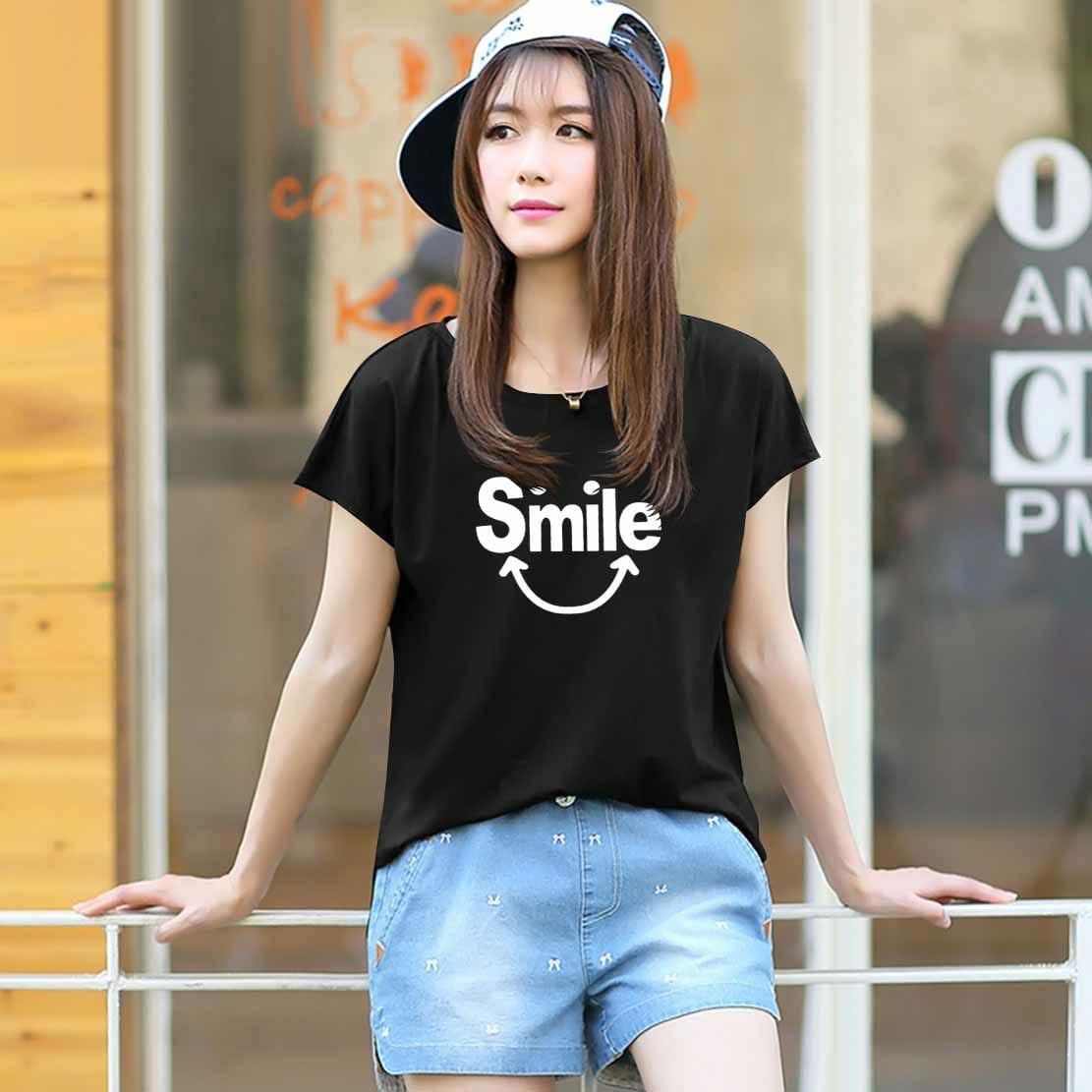 Vanessa Tumblr Tee / T-Shirt SMILE / T-shirt Wanita / Kaos Cewek