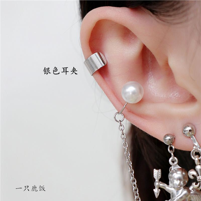 Metal Clip-on er gu huan Simple Europe And America Base a Pierceless Ear Clip