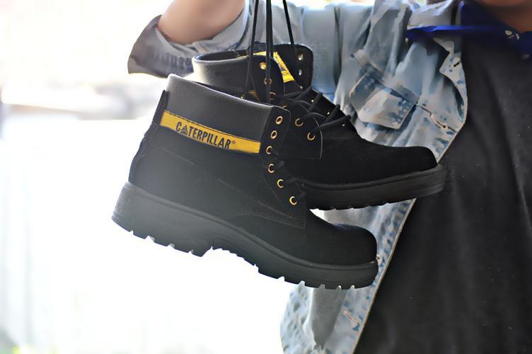 BEST SELLER !!! Sepatu Pria Caterpillar Safety Boots UJUNG BESI ORIGINAL High Quality / TRACKING BOOTS / SEPATU PROYEK / SEPATU HIKKING / SEPATU GUNUNG / SEPATU BOOTS / TERMURAH