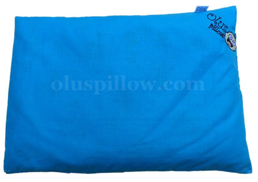 Olus Pillow Biru - Bantal Kesehatan Kepala Bayi Anti Peyang
