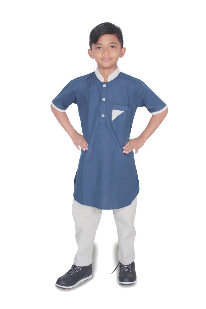 Setelan baju koko Anak pria lengan pendek- umur 1-12 tahun-Kode E01-DONGKER