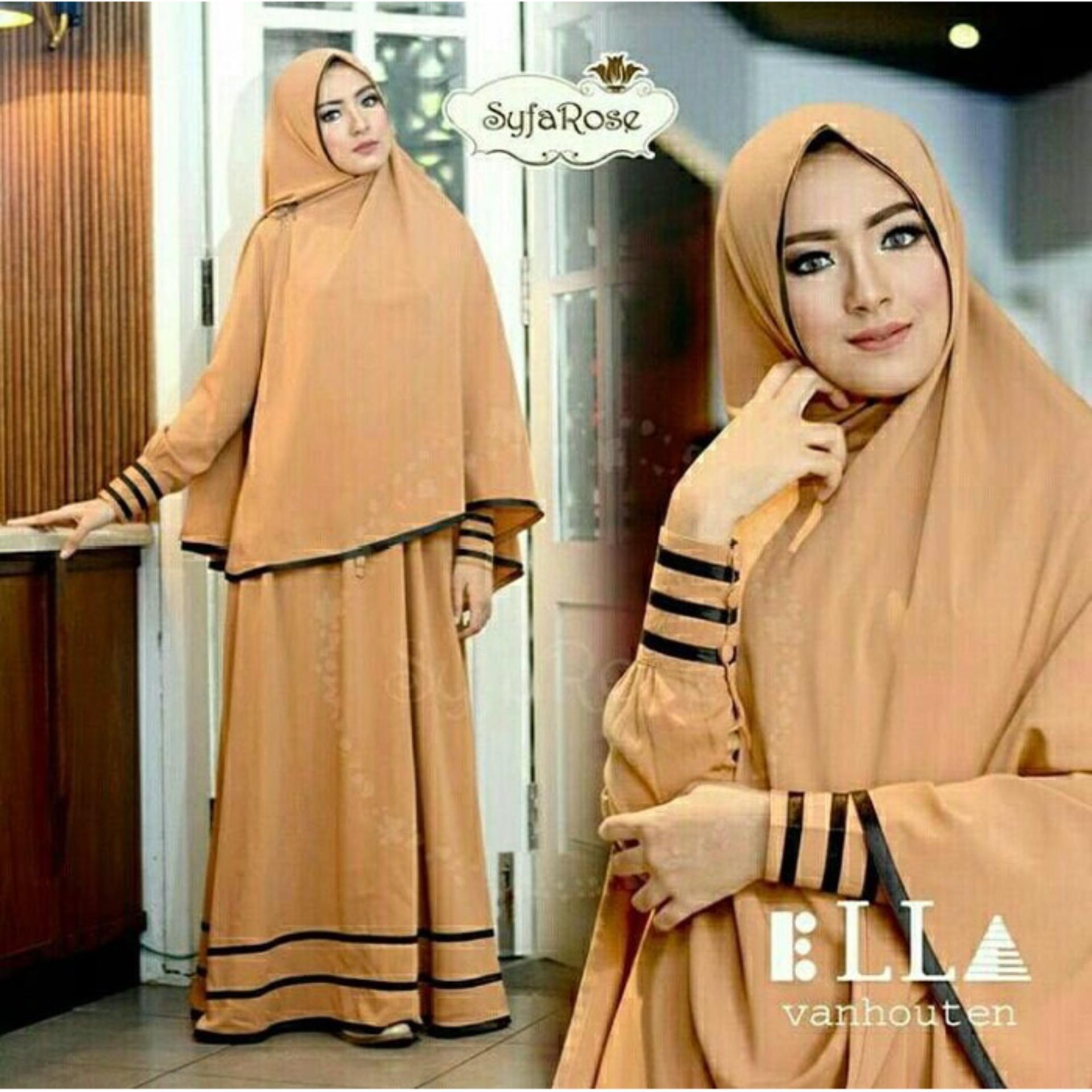 Shoppaholic Shop Baju Gamis Muslim Syfarose Coksu Dress Muslimah Hijab Muslim Gamis
