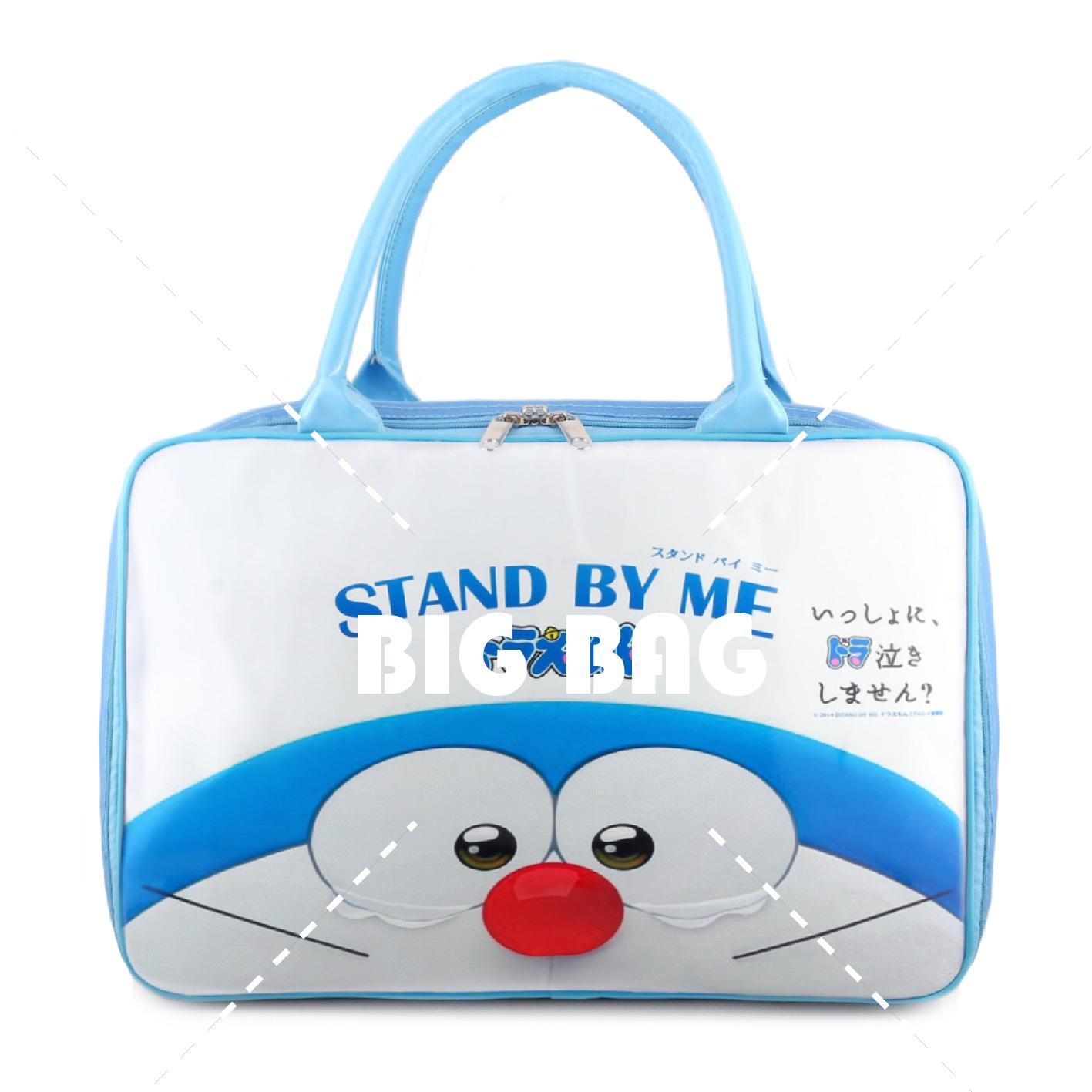 Tas Anak Fashion Travel Bag -  Doraemon - Tears - White Blue Tas Travel Tas Anak Karakter
