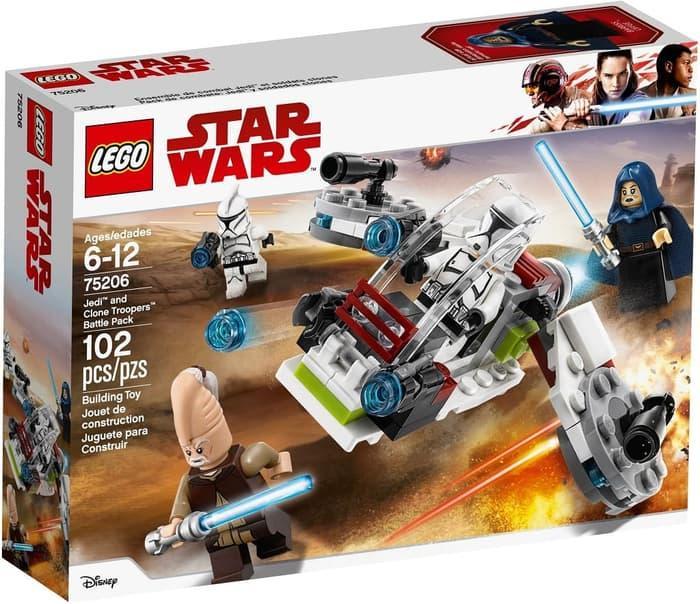 BEST SELLER!!! Lego StarWars 75206 Jedi and Clone Troopers Battle Pack - aJMNh7