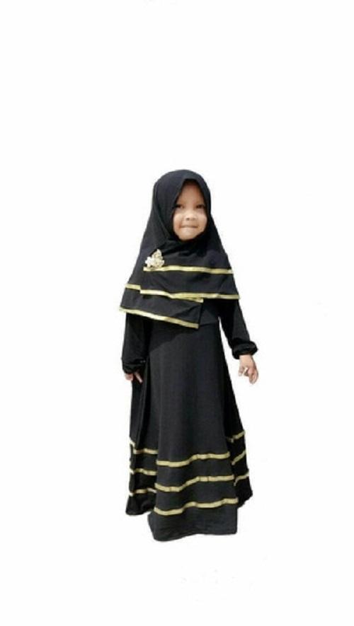 Gamis anak/ baju muslim anak perempuan/ syari anak