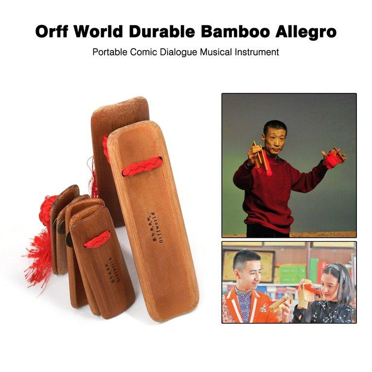 Orff World Durable Bamboo Allegro Portable Comic Dialogue Musical Instrument