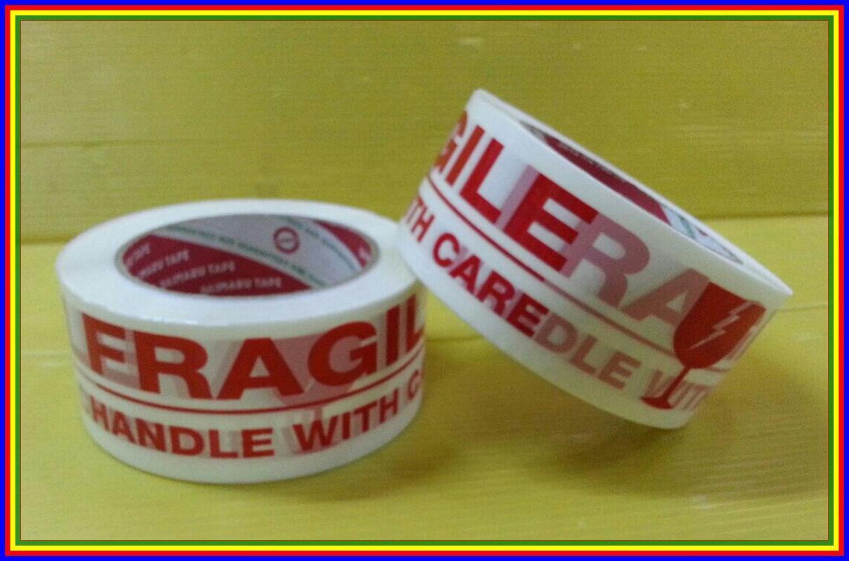 Daimaru Lakban Fragile Handle With Care Tape 3pcs Daftar Harga 2x100mtr Detail Gambar Mudah Pecah 48 Mm X 100 M Terbaru