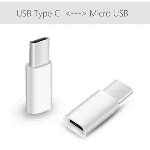 Conector Original Converter Micro USB Ke USB C - Putih - 2 .