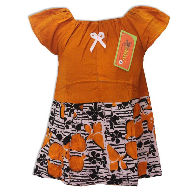 Daster Anak Batik, Baju Tidur Anak, Piyama Anak, Ukuran M Usia 6 Bulan - 2 Tahun (BKA002) Batik Alhadi