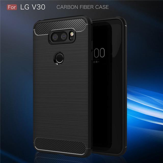 Luxury Soft Silicone Phone Case For LG V30 - Hitam