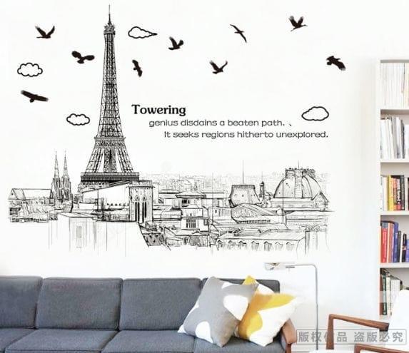 Detail Gambar Wall sticker Towering AM9258 (90x60) Stiker Dinding Terbaru